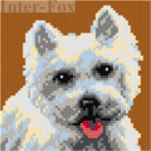 Kanwa 15 x 15 cm, 2722 West Highland White Terrier.
