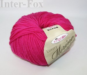 Luxury Merino Superwash, kolor 2633 Fuksja