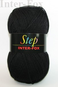 Step Basic, Superwash kolor nr 599 Czarny