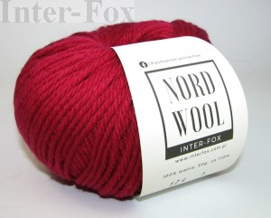 Nord Wool  Superwash, kolor 124 Sangria