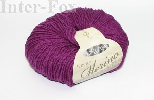 Luxury Merino Superwash, kolor 2631 Damson.