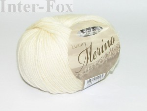 Luxury Merino Superwash, kolor 2612 Cream.  (1)