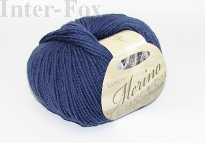 Luxury Merino Superwash, kolor 2619 Slate Blue.