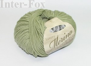 Luxury Merino Superwash, kolor 2618 Sage-groszek.