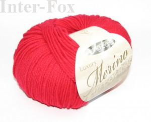 Luxury Merino Superwash, kolor 2613 Candy Apple-czerwony.