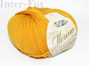 Luxury Merino Superwash, kolor 2624 Mustard-miodowy.